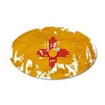 New Mexico Flag 22x14 Oval Wall Peel
