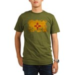 New Mexico Flag Organic Men's T-Shirt (dark)