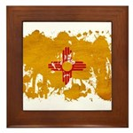 New Mexico Flag Framed Tile