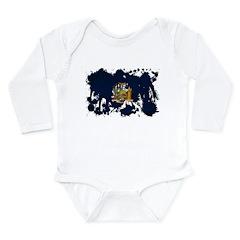 New York Flag Long Sleeve Infant Bodysuit