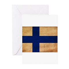 Finland Flag Greeting Cards (Pk of 20)