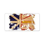 Newfoundland Flag Aluminum License Plate