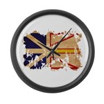 Newfoundland Flag Large Wall Clock