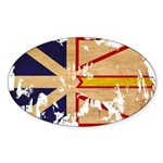 Newfoundland Flag Sticker (Oval 50 pk)