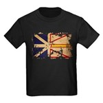 Newfoundland Flag Kids Dark T-Shirt