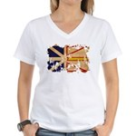 Newfoundland Flag Women's V-Neck T-Shirt
