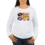 Newfoundland Flag Women's Long Sleeve T-Shirt