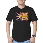 Newfoundland Flag Men's Fitted T-Shirt (dark)