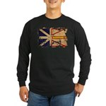 Newfoundland Flag Long Sleeve Dark T-Shirt