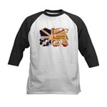 Newfoundland Flag Kids Baseball Jersey