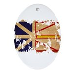 Newfoundland Flag Ornament (Oval)