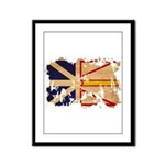 Newfoundland Flag Framed Panel Print