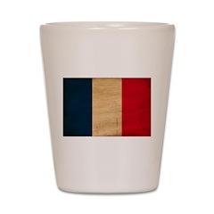 France Flag Shot Glass