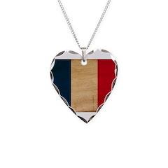 France Flag Necklace