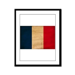 France Flag Framed Panel Print