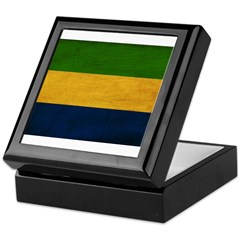 Gabon Flag Keepsake Box