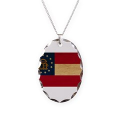 Georgia Flag Necklace