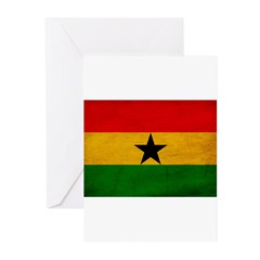 Ghana Flag Greeting Cards (Pk of 10)