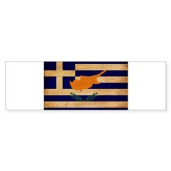 Greek Cyprus Flag Sticker (Bumper 10 pk)