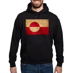 Greenland Flag Hoodie (dark)