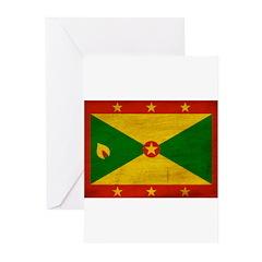 Grenada Flag Greeting Cards (Pk of 10)