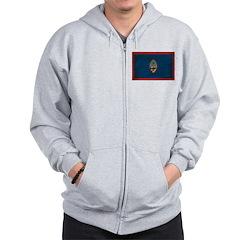 Guam Flag Zip Hoodie