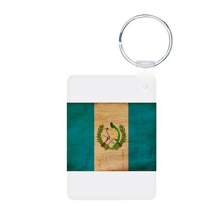 Guatemala Flag Aluminum Photo Keychain