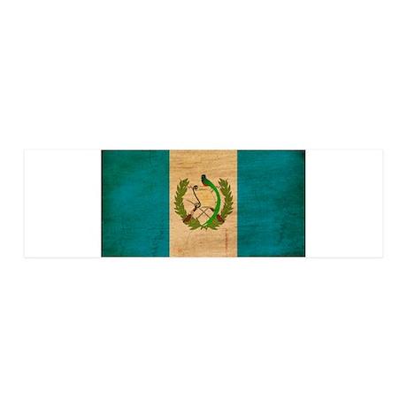 Guatemala Flag 42x14 Wall Peel