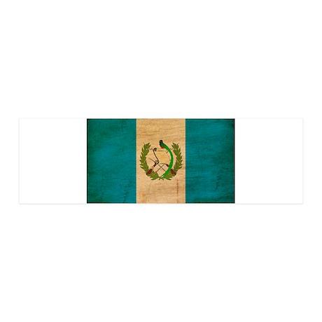 Guatemala Flag 21x7 Wall Peel