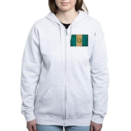 Guatemala Flag Women's Zip Hoodie