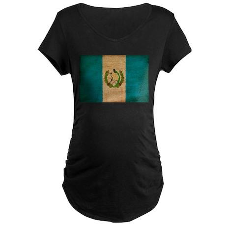 Guatemala Flag Maternity Dark T-Shirt