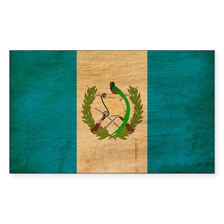 Guatemala Flag Sticker (Rectangle)
