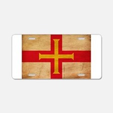 Guernsey Flag Aluminum License Plate