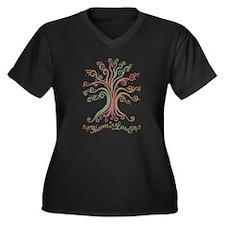 Harm Less Women's Plus Size V-Neck Dark T-Shirt