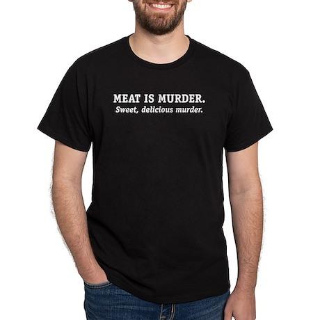 Meat is Murder. Black T-Shirt