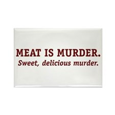 Meat is Murder. Rectangle Magnet