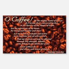 Coffee Invocation Sticker (Rect)
