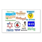 JEWTEE MEDLEY Rectangle Sticker