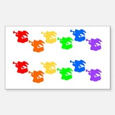 Rainbow Angel 2 for 1 Rectangle Decal