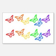 Rainbow Butterflies 2 for 1 Rectangle Decal