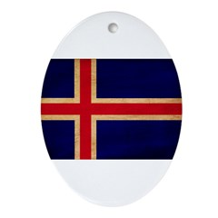 Iceland Flag Ornament (Oval)
