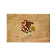 Illinois Flag Rectangle Magnet