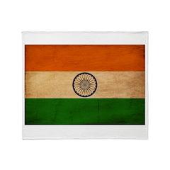 India Flag Throw Blanket