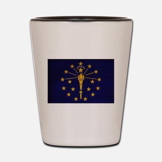 Indiana Flag Shot Glass