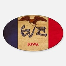 Iowa Flag Decal