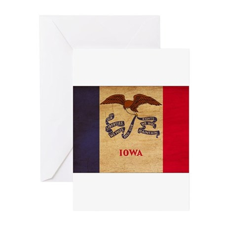 Iowa Flag Greeting Cards (Pk of 20)