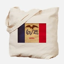 Iowa Flag Tote Bag