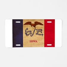 Iowa Flag Aluminum License Plate