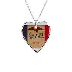 Iowa Flag Necklace