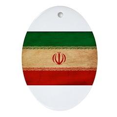 Iran Flag Ornament (Oval)